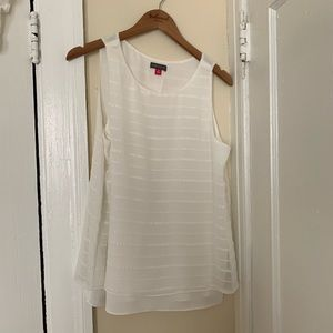 Flowy Vince Camuto white tank